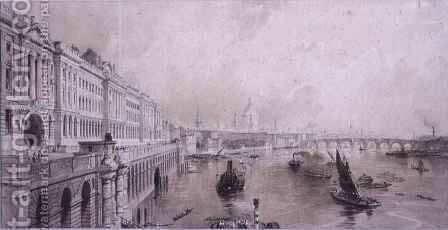 Somerset House by Allote - Reproduction Oil Painting