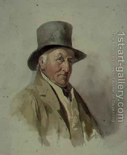 Thomas Worley, Bailiff at Ashurst, at the age of 83 by Allote - Reproduction Oil Painting
