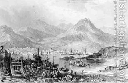 Hong-Kong from Kow-loon by (after) Thomas Allom - Reproduction Oil Painting