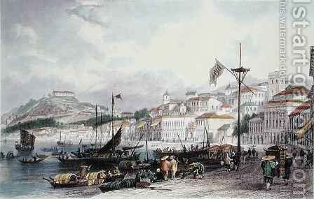 Pria Grande, Macao by (after) Thomas Allom - Reproduction Oil Painting