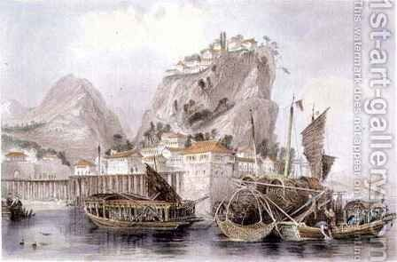 The Mouth of the River Chin-Keang by (after) Thomas Allom - Reproduction Oil Painting