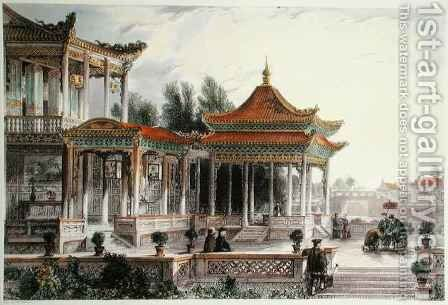 Pavilion of the Star of Hope, Tong Chow by (after) Thomas Allom - Reproduction Oil Painting