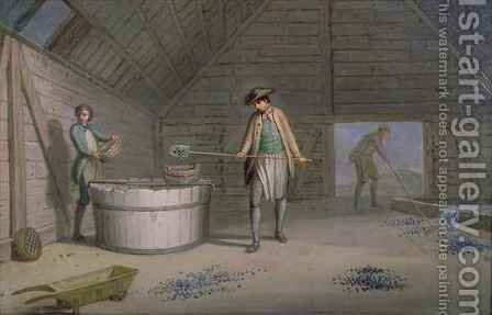 Lead Mining at Leadmills, the washing and sieving of the lead by Sir Alexander Allan - Reproduction Oil Painting