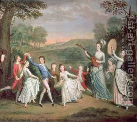 Sir John Halkett and his Family by Sir Alexander Allan - Reproduction Oil Painting