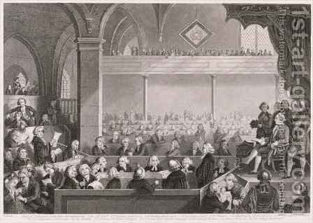 The General Assembly of the Church of Scotland as in 1783 by (after) David Allan - Reproduction Oil Painting