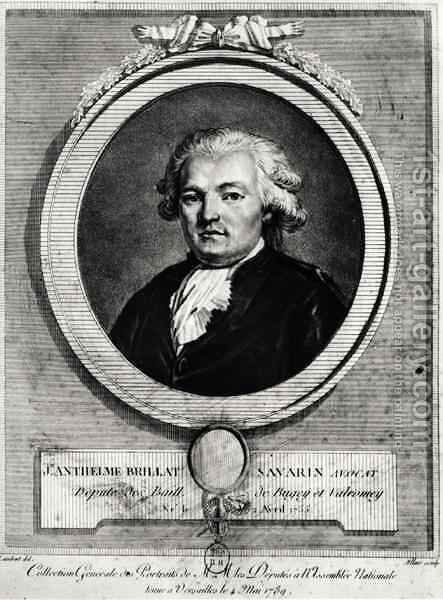 Portrait of Jean-Anthelme Brillat-Savarin (1755-1826) by (after) Allais, Louis Jean - Reproduction Oil Painting