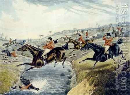 The Grand Leicestershire Fox Hunt 2 by (after) Samuel Henry Gordon Alken - Reproduction Oil Painting