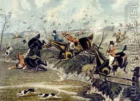 The Grand Leicestershire Fox Hunt 3 by (after) Samuel Henry Gordon Alken - Reproduction Oil Painting