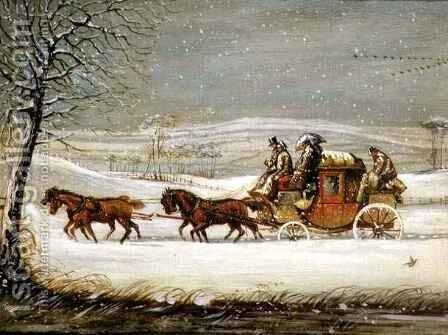 The Royal Mail in Winter by Henry Thomas Alken - Reproduction Oil Painting