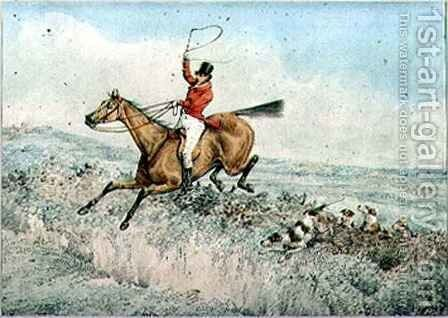 Fox Hunting by Henry Thomas Alken - Reproduction Oil Painting