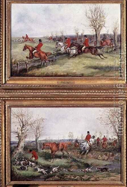 Pair of Hunting Scenes by Henry Thomas Alken - Reproduction Oil Painting