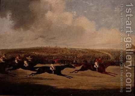 Winning of the Derby by Henry Thomas Alken - Reproduction Oil Painting