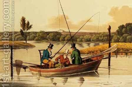 Fishing in a Punt by Henry Thomas Alken - Reproduction Oil Painting