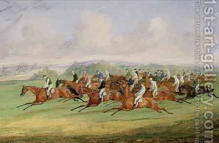 The Start of the Derby by Henry Thomas Alken - Reproduction Oil Painting