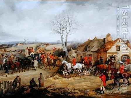 Hunting Scene, The Meet by Henry Thomas Alken - Reproduction Oil Painting