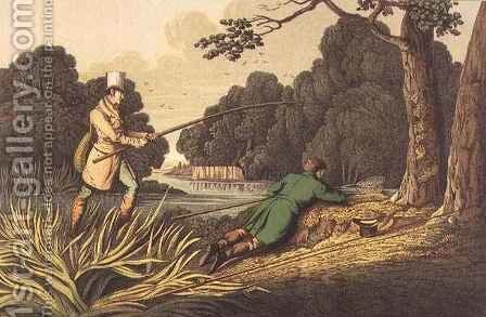 Pike Fishing by Henry Thomas Alken - Reproduction Oil Painting