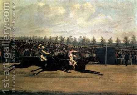 The Doncaster Cup by Henry Thomas Alken - Reproduction Oil Painting