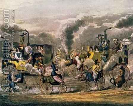 A View in Regent's Park in 1831, from 'The Progress of Steam' by Henry Thomas Alken - Reproduction Oil Painting