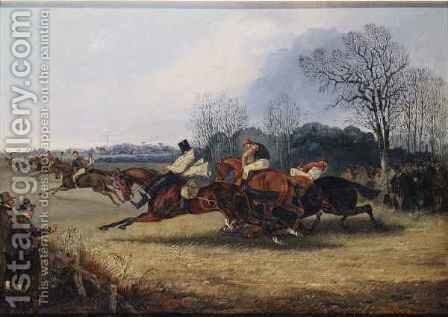 An Incident in the Wakefield Steeplechase by Henry Thomas Alken - Reproduction Oil Painting
