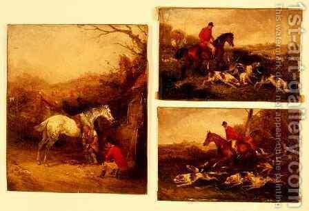 Shoeing, The Check and Gone Away by Henry Thomas Alken - Reproduction Oil Painting