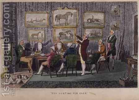 Fox Hunting For Ever by Henry Thomas Alken - Reproduction Oil Painting