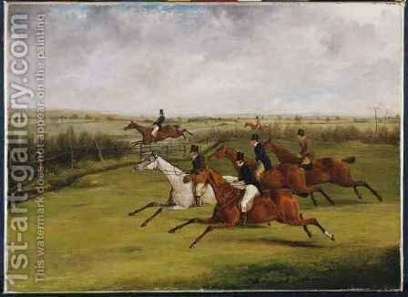 The Grand Leicestershire Steeplechase 2 by Henry Thomas Alken - Reproduction Oil Painting