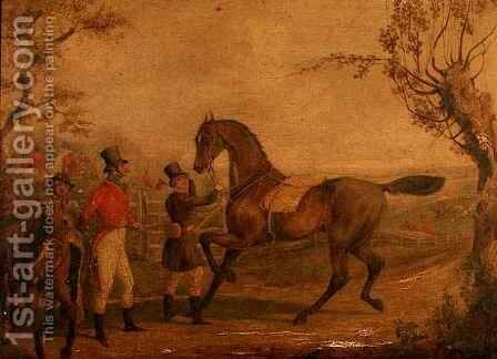 Preparing for the Hunt by Henry Thomas Alken - Reproduction Oil Painting