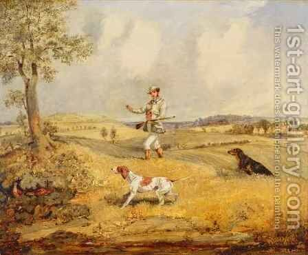 Partridge Shooting by Henry Thomas Alken - Reproduction Oil Painting