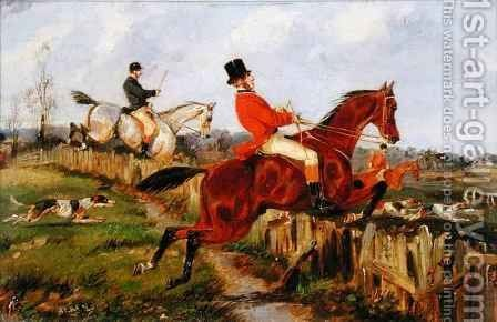 The Chase by Henry Thomas Alken - Reproduction Oil Painting