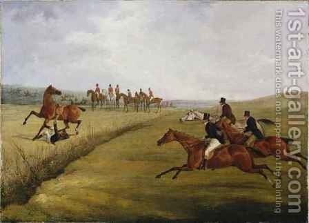 The Grand Leicestershire Steeplechase 3 by Henry Thomas Alken - Reproduction Oil Painting