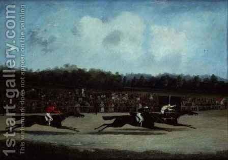 The Finish of the St.Leger by Henry Thomas Alken - Reproduction Oil Painting