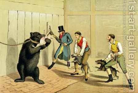Bear Baiting by Henry Thomas Alken - Reproduction Oil Painting