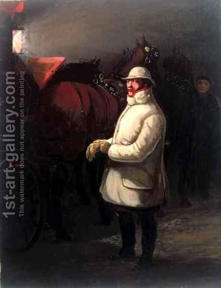 The Driver of the Mail by Henry Thomas Alken - Reproduction Oil Painting