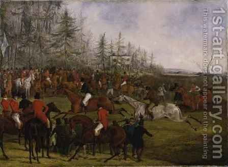 The Grand Leicestershire Steeplechase 4 by Henry Thomas Alken - Reproduction Oil Painting