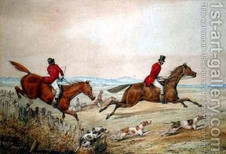 Hunting Scene 2 by Henry Thomas Alken - Reproduction Oil Painting
