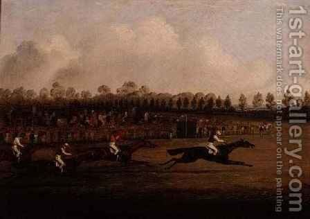 Finish of the Doncaster St. Leger by Henry Thomas Alken - Reproduction Oil Painting