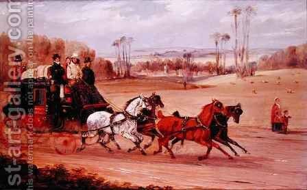 Dover to London Coach by Henry Thomas Alken - Reproduction Oil Painting