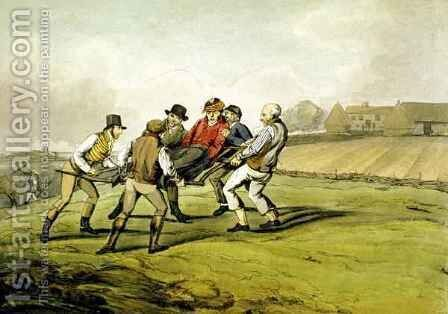 Injured, from 'Qualified Horses and Unqualified Riders' by Henry Thomas Alken - Reproduction Oil Painting