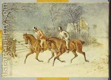Going Out in a Snowstorm by Henry Thomas Alken - Reproduction Oil Painting