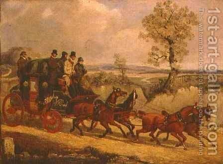 The Dover Coach going Downhill by Henry Thomas Alken - Reproduction Oil Painting