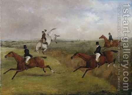 The Grand Leicestershire Steeplechase 6 by Henry Thomas Alken - Reproduction Oil Painting