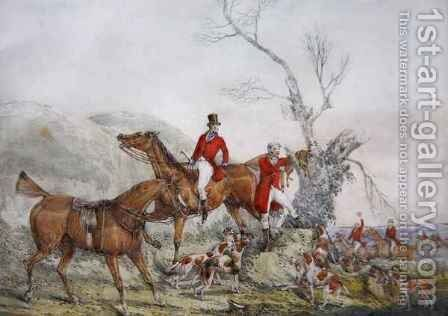 Treeing the Fox by Henry Thomas Alken - Reproduction Oil Painting