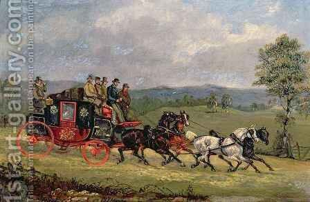 The Hull Mail on the Open Road by Henry Thomas Alken - Reproduction Oil Painting
