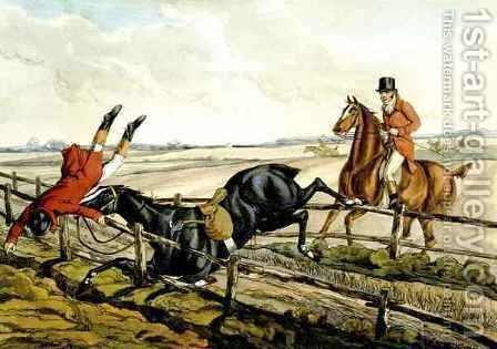 Misjudging the Jump by Henry Thomas Alken - Reproduction Oil Painting