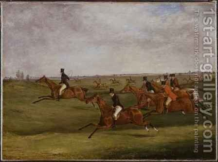 The Grand Leicestershire Steeplechase 7 by Henry Thomas Alken - Reproduction Oil Painting