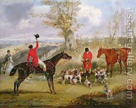 Hunting Scene The Death by Henry Thomas Alken - Reproduction Oil Painting