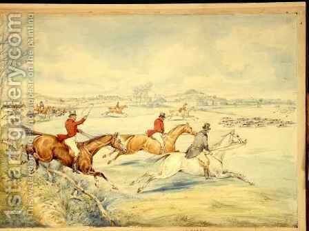 Hunting Scenes Full Cry by Henry Thomas Alken - Reproduction Oil Painting