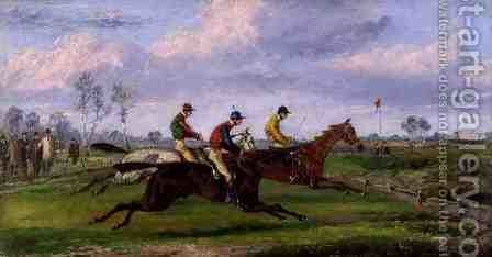 A Steeplechase 2 by Henry Thomas Alken - Reproduction Oil Painting