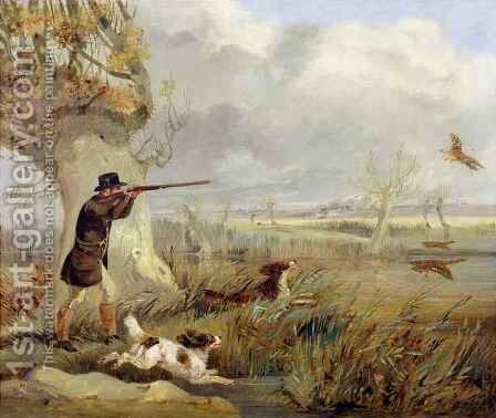 Duck Shooting by Henry Thomas Alken - Reproduction Oil Painting