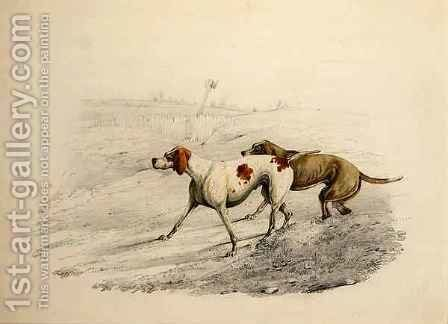 Two Pointers, facing left by Henry Thomas Alken - Reproduction Oil Painting